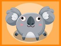 Bande dessinée de koala Caractères drôles de dessin animé et d'animal de vecteur Photos libres de droits