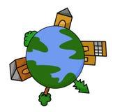 Bande dessinée de la terre Images libres de droits