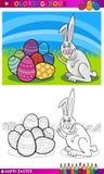 Bande dessinée de lapin de Pâques pour la coloration Images libres de droits