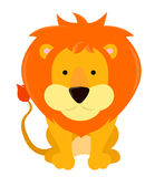 Bande dessinée de lion illustration libre de droits
