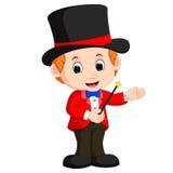 Bande dessinée de magicien de garçon illustration libre de droits