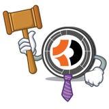 Bande dessinée de mascotte de Bitcoin Dark de juge Image libre de droits