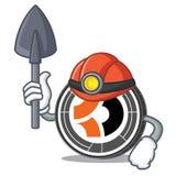 Bande dessinée de mascotte de Bitcoin Dark de mineur Image libre de droits