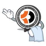 Bande dessinée de mascotte de Bitcoin Dark de serveur Image stock