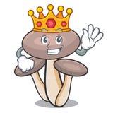Bande dessinée de mascotte de champignon d'agaric de miel de roi illustration stock