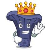 Bande dessinée de mascotte de champignon d'indigo d'actarius de roi illustration stock