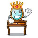 Bande dessinée de mascotte de coiffeuse de roi illustration de vecteur