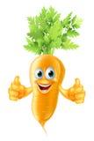 Bande dessinée de mascotte de carotte Image libre de droits