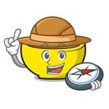Bande dessinée de mascotte des syndicats de soupe à explorateur illustration stock