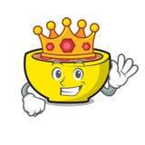 Bande dessinée de mascotte des syndicats de soupe à roi illustration de vecteur