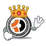 Bande dessinée de mascotte du Roi Bitcoin Dark Images stock