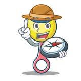 Bande dessinée de mascotte de jouet de hochet d'explorateur illustration libre de droits