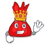 Bande dessinée de mascotte de sucrerie d'emballage de roi illustration libre de droits