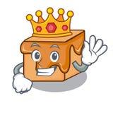 Bande dessinée de mascotte de sucreries de caramel de roi illustration de vecteur