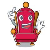 Bande dessinée de mascotte de trône de roi de doigt illustration stock