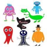 Bande dessinée de monstres mignonne illustration de vecteur