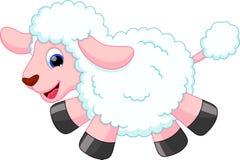 Bande dessinée de moutons Images stock