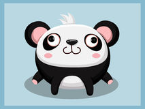 Bande dessinée de panda Caractères drôles de dessin animé et d'animal de vecteur Images stock
