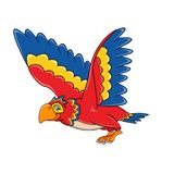 Bande dessinée de perroquet de vol Photo libre de droits