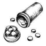 Bande dessinée de pilules Image libre de droits