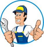 Bande dessinée de plombier Photographie stock libre de droits