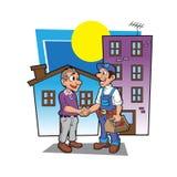 Bande dessinée de poignée de main de bricoleur Photographie stock libre de droits