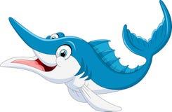 Bande dessinée de poissons de Marlin Photographie stock