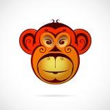 Bande dessinée de singe comme symbole pendant l'année 2016 Images stock