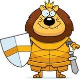 Bande dessinée de sourire Lion King Armor illustration stock