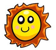 Bande dessinée de sourire de rougissement Sun illustration de vecteur