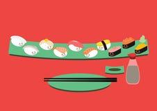 Bande dessinée de sushi Photographie stock
