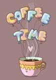 Bande dessinée de temps de café créative Photos stock