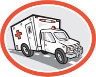 Bande dessinée de véhicule de secours d'ambulance Image libre de droits