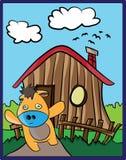 Bande dessinée de vache Photo stock