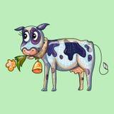 Bande dessinée de vache Photos stock