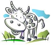 Bande dessinée de vache illustration de vecteur