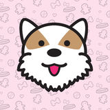 Bande dessinée de vecteur d'icône de chien Image libre de droits