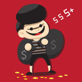 Bande dessinée de voleur Images stock