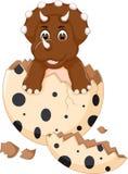Bande dessinée douce de trappe de dinosour de bébé se tenant avec le sourire Image stock