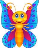 Bande dessinée drôle de papillon Photographie stock libre de droits