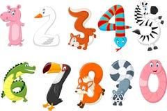Bande dessinée du nombre avec un concept animal Photo libre de droits