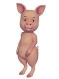 Bande dessinée du porc 3d Photographie stock libre de droits