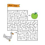 Bande dessinée Duck Maze Game Photographie stock
