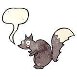 bande dessinée effrayée drôle d'écureuil avec la bulle de la parole Image stock