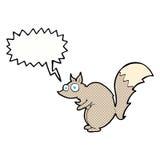 bande dessinée effrayée drôle d'écureuil avec la bulle de la parole Photo libre de droits