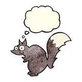 bande dessinée effrayée drôle d'écureuil avec la bulle de pensée Photographie stock