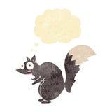 bande dessinée effrayée drôle d'écureuil avec la bulle de pensée Photo libre de droits