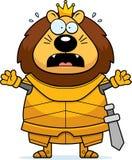 Bande dessinée effrayée Lion King Armor illustration de vecteur
