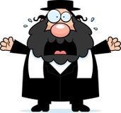 Bande dessinée effrayée Rabbin illustration de vecteur