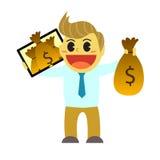 Bande dessinée et argent d'Officeman de l'instrument 1 Photographie stock libre de droits
